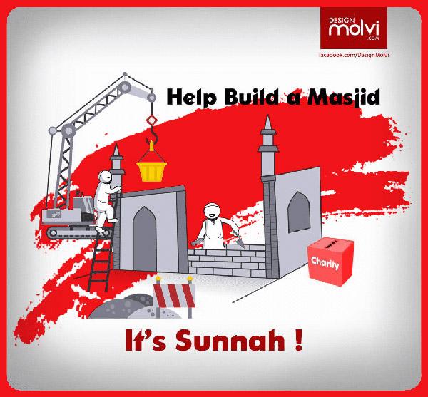 Membantu membangun mesjid